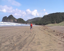 Xena film locations - Bethells Beach - Miss Amphipolis
